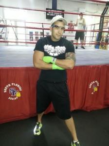 Daniel DiMassa at South Beach Boxing with Google Glass.
